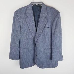 Vintage wool silk mens blazer sport coat 42 short